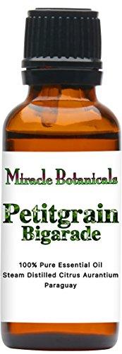 (Miracle Botanicals Petitgrain Bigarade Essential Oil - 100% Pure Citrus Aurantium - Therapeutic Grade - 30ml)