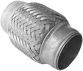 Stainless Steel Flexible Exhaust Pipe Connector 50mm x 100mm Heavy Duty Weld In Coupler Flexi Pipe Tube Adapter Sleeve Joint 50mm x 100mm