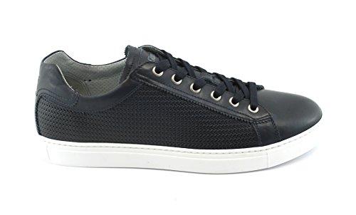 Nero Giardini 00282 Blu Marine Scarpe Uomo Sneaker Sportive Lacci Pelle blu Nicekicks Descuento 9SfQDo