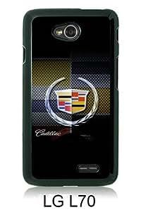 Cadillac logo 2 Black LG L70 Screen Cover Case Unique and Fashion Design