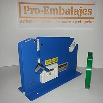 Cierrabolsas metalico lacado en azul - para cinta de 12 mm ...
