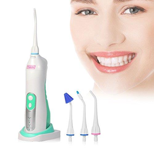 YASI YS831 Stationäre Munddusche Oral Irrigator tragbarer Zahnreiniger mit 4 Modi und Sensor Ladestation für Zahnpflege Zahnspange Zahnzwischenräume Reinigung