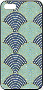 Waves Blue Patterns Waves Apple iPhone 5/5s SLIM Case Carcasa [SF Matte Black (negro)] SUPER SLIM + SF COATED + PERFECT FIT Caso duro Premium Funda Cáscara Caso Cubrir