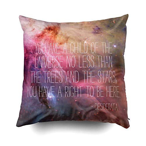 summer-M Christams Poem Inspirational Quote Nebula Nebulae Cushions Case Throw Pillow Cover for Sofa Home Decorative Pillowslip Gift Ideas Household Pillowcase Zippered Pillow Covers -