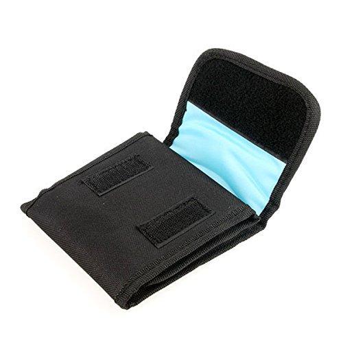 BlueBeach® 3 Fächer Objektivtasche Filter Wallet Tasche Objektiv Zubehör Filtertasche für DSLR Kamera Filter 25-86mm UV CPL Cokin