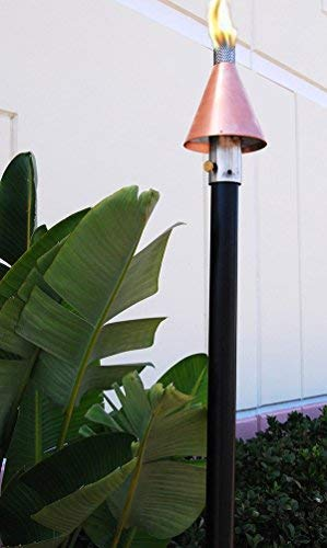 Big Kahuna Gas Torch (Tiki) Style -Copper Cone Permanent Mount-, 2 Pack!, Landscape, LP, Propane, Natural Gas Torch, Gas Torch …