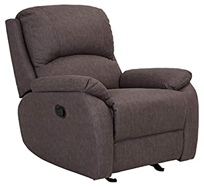 Ravenna Home Oakesdale Casual Recliner 3 Living Room Chair, Fabric