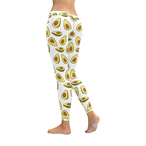 6b5f8d2d5f INTERESTPRINT Funny Steampunk Avocado Stretchy Capri Leggings Skinny Yoga  Running Pants for Women 2XS-5XL