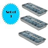 RETRO ALUMINUM ICE CUBE TRAY (SET OF 3)