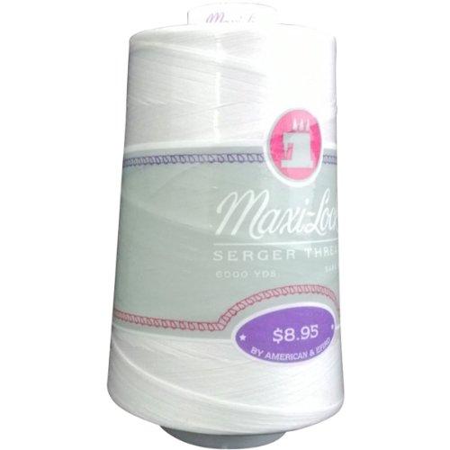 - American & Efird ART60-32109 Maxi-Lock Cone Thread, 6000-Yard, White