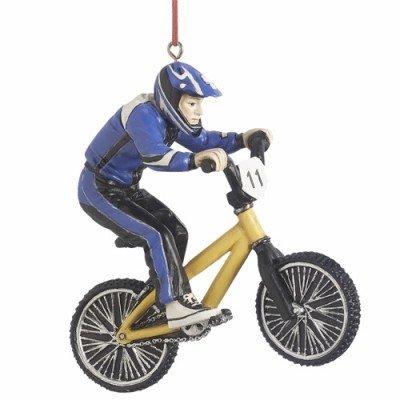 BMX Racer Christmas Ornament