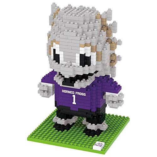 NCAA Texas Christian Horned Frogs 3D Brxlz Mascot Building Blocks SET3D Brxlz Mascot Building Blocks Set, Team Color, One Size