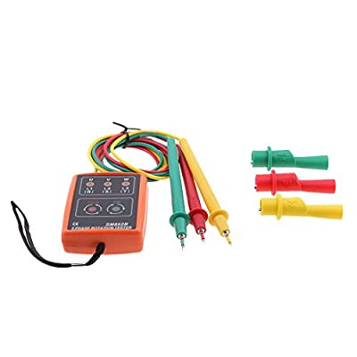 Jili Online SM852B 3 Phase Sequence Rotation Tester LED Indicator Detector Checker Meter