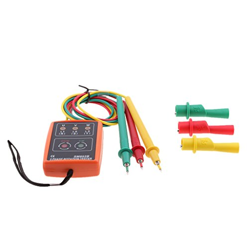 SM852B 3 Phase Rotation Tester Indicator Detector Meter with LED + Buzzer - 9