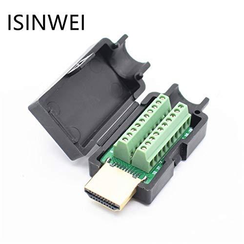 Calvas HDMI Male 19P Plug Breakout Terminals Solderless Connector With Black - Cabl Breakout