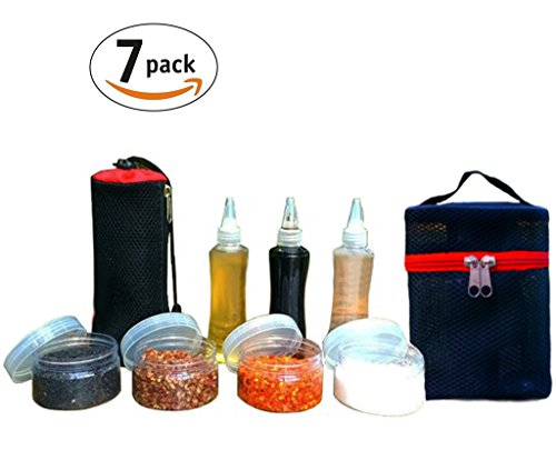 Portable Spice Jars Sauce Condiment Bottles Containers for B