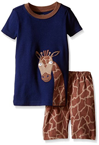 Gymboree Big Boys' Navy Giraffe Sleep Set, Multi, (Gymboree Giraffe)