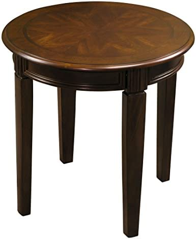 Fairview Game Rooms Round Accent Table in Chestnut Finish