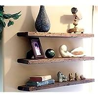 EZ Mount Wood Floating Shelves Handmade Rustic Barnwood Floating Shelf 10 Second Install - With Everything You Need.