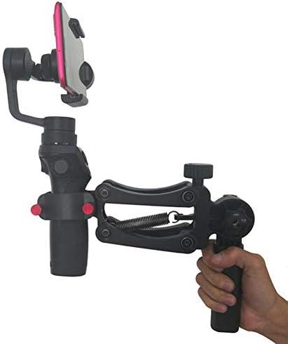 片手グリップブラケット、1/4インチネジ柔軟な減衰スプリングジンバルアクセサリー、スマートフォン/アクションカメラショット用の2