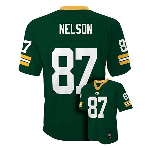 NFL Green Bay Packers Player Name & Number Jersey, Small/(8), Hunter