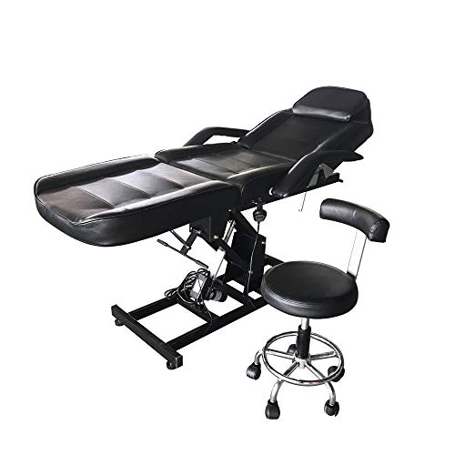 Special Design, Multi-Function, Professional Salons And Home, Beauty Electric Massage Table Chair Portable Facial Bed Tattoo Salon Motor Black