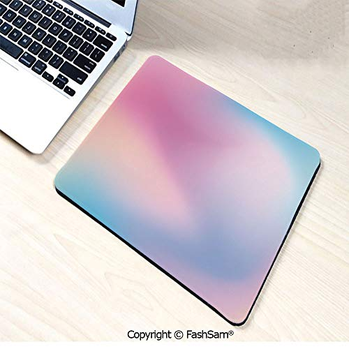 Desk Mat Mouse Pad Abstract Blurry Colors Composition Sweet Daydream Fantasy Miscellaneous Decorative for Office(W7.8xL9.45) ()
