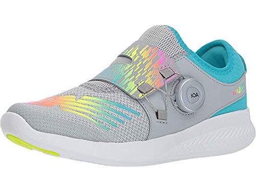 New Balance Kids' FuelCore Reveal Running Shoe, Silver Mink/Rainbow, 6.5 M US Big Kid