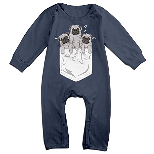 Baby Infant Romper Black Cat Heartbeat Long Sleeve Jumpsuit Costume Navy 12 Months (Welcome Mat Costume)