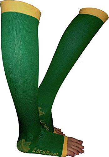 Lace Poet Knee-High Yoga/Sleep Compression Toeless Socks