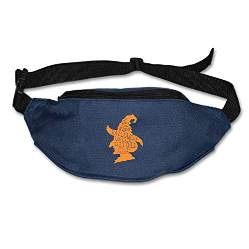 Elvira Jasper Happy Halloween Day Running Waist Pack Bag Travel Sports Chest Pack for Hiking Climbing Men Women