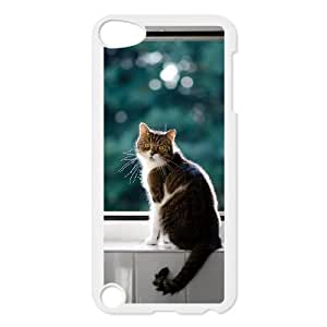 iPod 5 White Cell Phone Case Mancoon Cat STY789803 Phone Case For Women