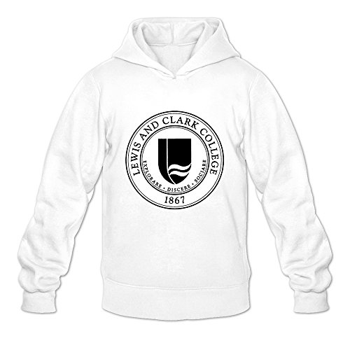 Diamondback Hooded Blue Sweatshirt - Tavil Lewis And Clark College 100% Cotton Hoodies For Men White Size XX-Large