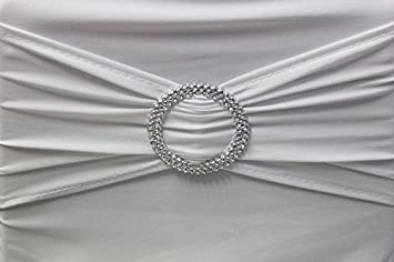100x Stuhlschleifen Stretch Schleifenbänder Schleifen für Stuhlhussen Hochzeit