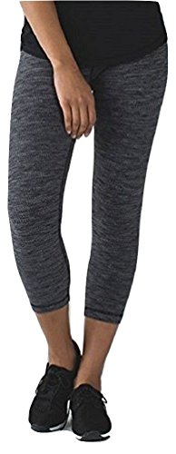 Lululemon Wunder Under Crop Yoga Pants Diamond Jacquard Space Dye Black Slate (8)