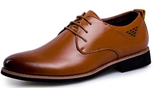 GTYMFH Herren Echtes Leder Freizeitschuhe Formelle Kleidung Business Herrenschuhe Schnürschuhe Brown