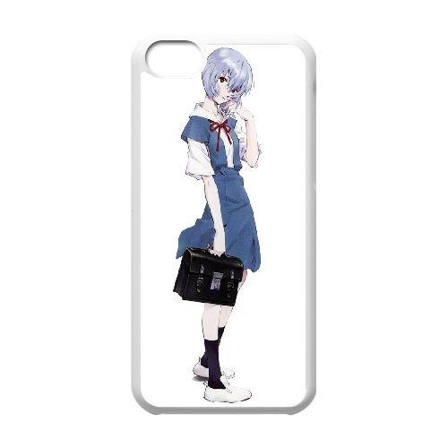Ayanami Rei coque iPhone 5C Housse Blanc téléphone portable couverture de cas coque EBDOBCKCO11536