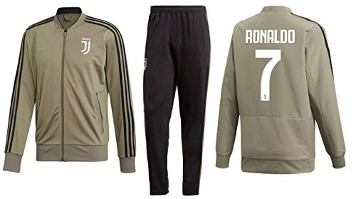 Jersey Track Jacket - Kitbag Cristiano Ronaldo Juventus #7 Kids Soccer Tracksuit Track Jacket with Pants Youth Sizes (YL 10-12 Years, Tracksuit)