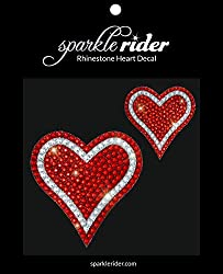 Heart-Shape Rhinestone Decal Stickers