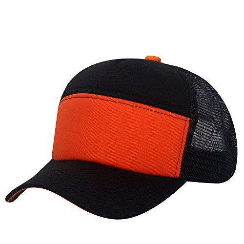 oriental spring - Gorra de béisbol - para hombre Black/Reddish Orange