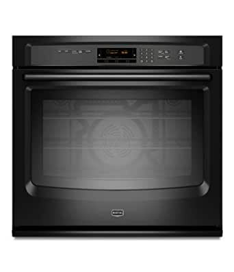 """Maytag MEW9527AB 27"""" Black Electric Single Wall Oven - Convection"""