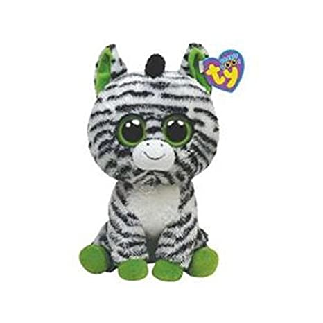 02eb184b976 Amazon.com  Ty Beanie Boos Zig-Zag - Zebra - (Solid Eye Color) - 6 inch   Toys   Games