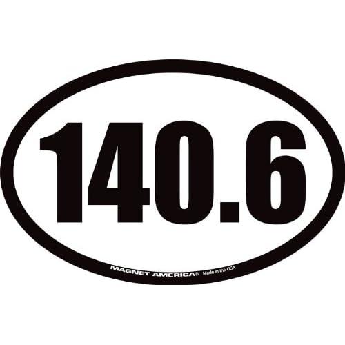 140.6 Full Triathlon Oval Car Magnet supplier