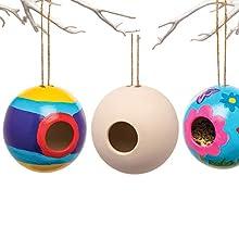 Baker Ross Casas de Cerámica de Pájaros (paquete de 2) manualidades y proyectos de jardín para niños, ideales para la escuela, grupos de manualidades y manualidades