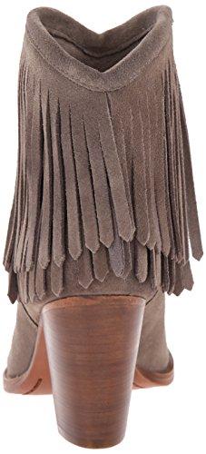 Dark FRYE Fringe corto Mujer 76807 Ilana Western Grey Boot PqYqRzxwr
