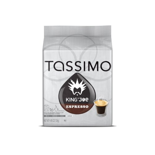 King of Joe Espresso Coffee, T-Discs for Tassimo Brewing Systems, 16 Count