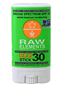 Raw Elements Eco Form Sunscreen Stick, SPF 30 Plus, 0.6 Ounce