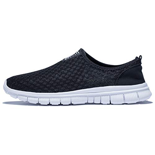 KENSBUY Mens Breathable Durable Sports Running Shoes Lightweight Mesh Walking Sneakers EU41 Black by KENSBUY (Image #3)