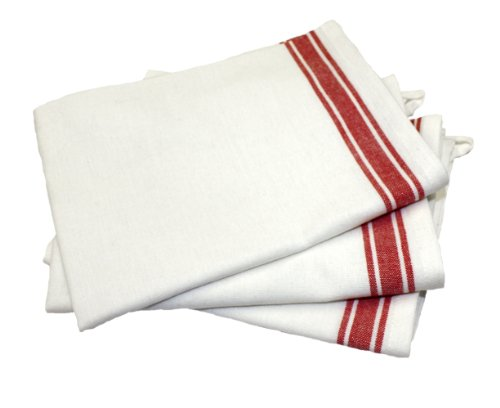 - Aunt Martha's 18-Inch by 28-Inch Package of 3 Vintage Dish Towels, Red Striped