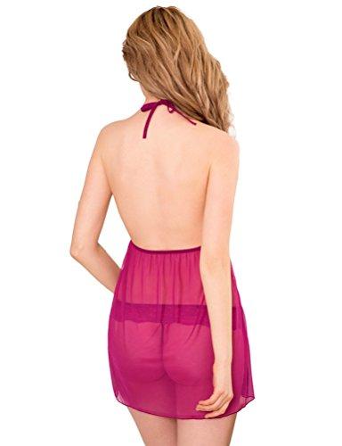 SEVEN STYLE - Conjunto de lencería - para mujer rosa (b)